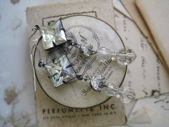 Assemblage Earrings. shabby chic, vintage, fench, assemblage earrings by Jennifer Valentine
