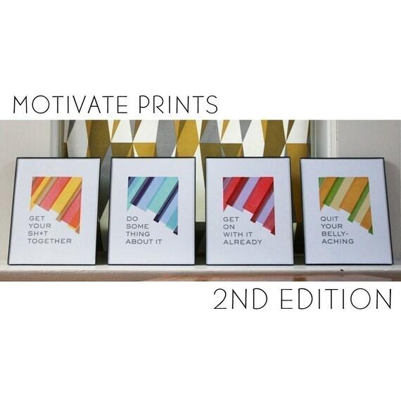 PRE-ORDER - 4 Prints to Motivate