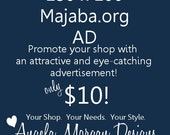 150 x 100 Graphic Ad jpeg File to Promote Your Etsy Shop on Majaba