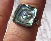Abalone Shell and Sterling Silver Ring