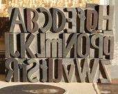 letterpress - alphabetic characters set 1