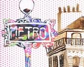 Metro 8 x 10 print