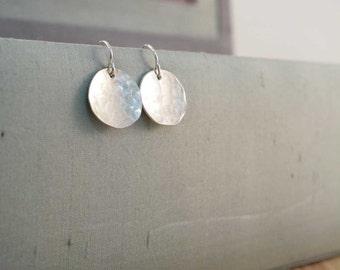 medium disc earrings.
