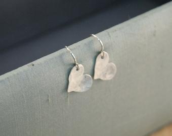 heart earrings.