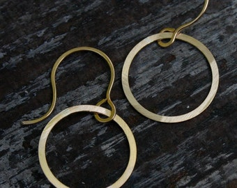 small open circle earrings.