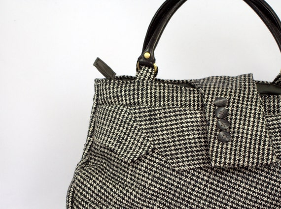 Recycled Handbag from a Men's Jacket
