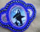 Orca Barrette in Cobalt Blue