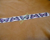 loom/square stitch beaded Native American inspired Kamama(Butterfly in Tsalagi) bracelet