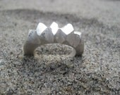 Jagged Edge Chunky Silver Ring