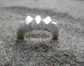 Jagged Edge Chunky Silver Ring