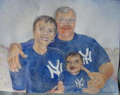 Painting of my family from a photograph