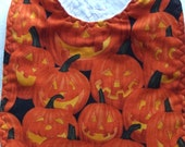 Jack-o-Lantern Baby  or Toddler Bib--Cute and Spooky