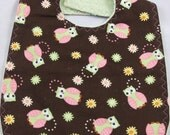 Hoot Hoot Owl Baby Toddler Bib--Truly Adorable Print