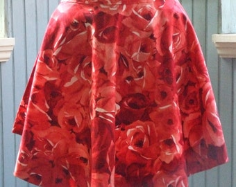Red Red Rose Retro Style Half Apron