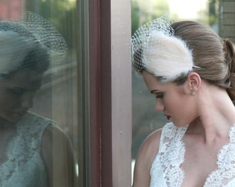 Ivory Feather Fascinator Headband
