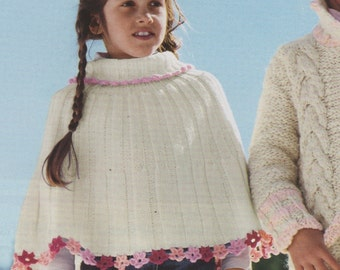 Flower Poncho for Girls