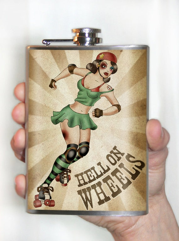 Hell on Wheels - Stainless Steel flask - 8oz.