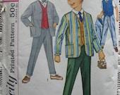 Vintage Simplicity 4836 Boys Size 2 1960's 3 Piece Suit Pattern
