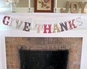 GIVE THANKS banner/garland