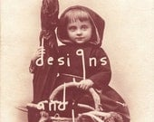 Hey there, Little Red Riding Hood - digital download vintage postcard NO SHIP