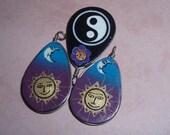 Sun, Moon, and Yin-Yang charms