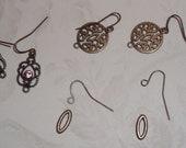 Copper earring findings
