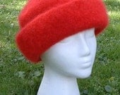 High Brim Felted Knit Hat Pattern PDF