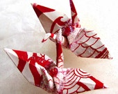 Big Red Dragon Peace Crane Bird Wedding Cake Topper Party Favor Origami Christmas Ornament Japanese White Paper 1st Anniversary Decoration