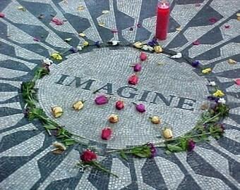 Imagine Strawberry Fields Photo Greeting Card John Lennon Memorial