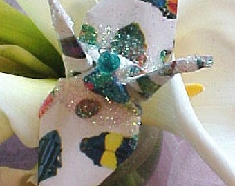 Beneficial Bugs Peace Crane Bird Wedding Cake Topper Party Favor Origami Christmas Ornament Insect Paper Anniversary Place Card Holder