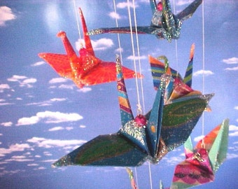 Do it Yourself Peace Crane Origami Eco Friendly Mobile 2.0