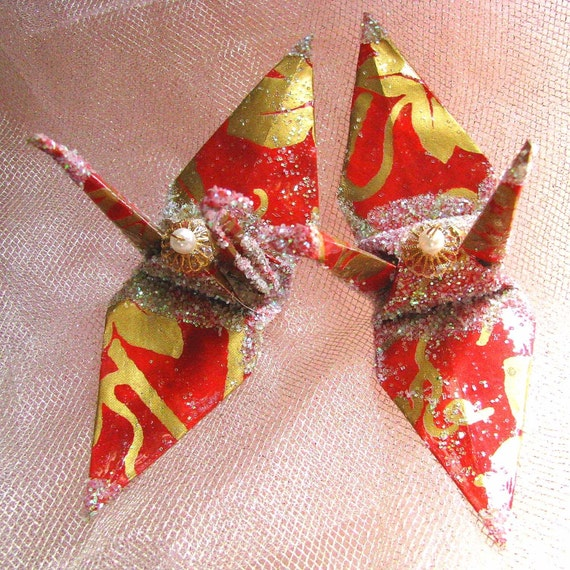 Origami Crane Cake Toppers