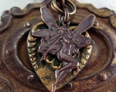 Steampunk Assemblage necklace Hearts and Flowers