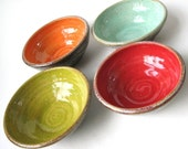 Set of Four Small and Colorful Prep Bowls MADE TO ORDER