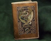 Green Celtic Dragon - Leather Journal