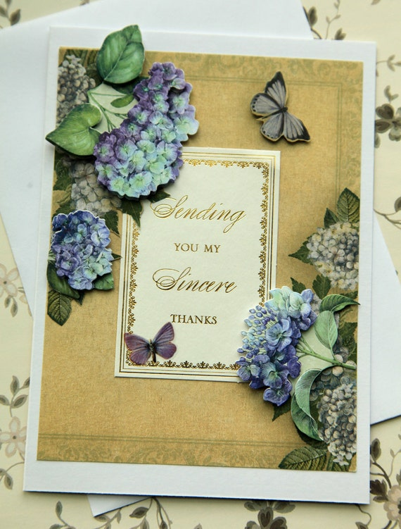 Elegant Hydrangea Thank You Card