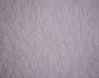 Baby Quilt Wholecloth Christening 37 x 38