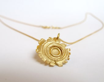 Shot necklace gold plated