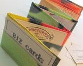 Zig Zag Business Card Holder File in Lime Green Billboard