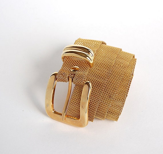 reserved . Gold Mesh Belt . Classic 80s . M L