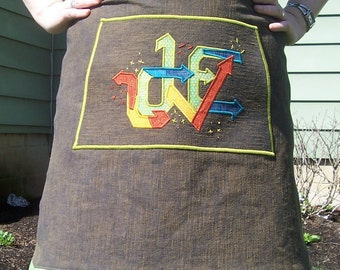 LOVE, LOVE, LOVE Graffiti style skirt
