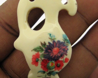 Only 4 in Stock-1 Vintage Plum Flower Acrylic Vase Pendant No 4