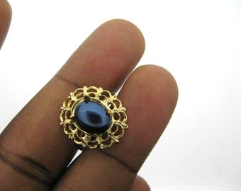 Only 5 Sets In Stock-3  Adjustable Vintage Gold Plated Filigree Ring Settings for a 8x10mm Stone