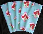 Set of 5 cloth napkins Little Mermaid Ariel Disney