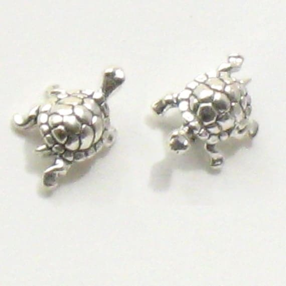 Traveling Turtle Studs - Sterling Silver Earrings