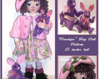 All 3 doll, Penelope, Ester and Buttons -  E-Pattern
