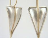 fine silver triangle earrings