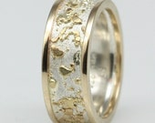 14k gold, sterling silver fused ring