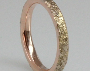 White gold, Red gold 3mm wide wedding ring