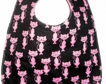 Baby Bib:  Pink and Pretty Cats
